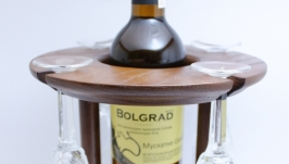 підставка для вина і бокалів