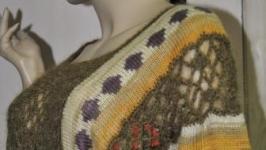 Короткий свитер летучая мышь