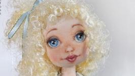Авторская текстильная кукла Незабудка