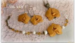Комплект золотая орхидея.