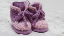 пинетки-ботиночки двухцветные
