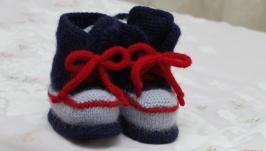пинетки ботинки - кроссовки
