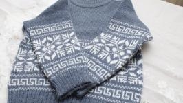 свитер серый на мальчика