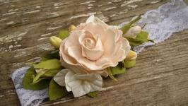 Повязка на голову ′Розы гортензия и гипперикум ′