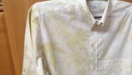 Мужская рубашка окрашена  растениями ′Осенний оберег′