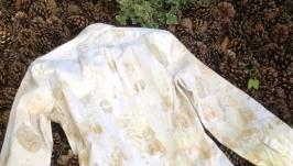 Мужская рубашка с екопринтом