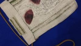 Текстильная сумка с растительным гербарием ′Маки′