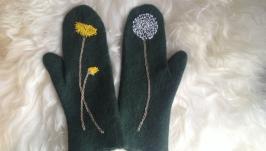 Валяные рукавички ′Кульбабка′