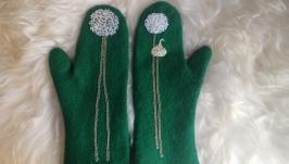 Валяные рукавички ′Цибулька′