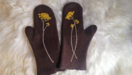 Валяные рукавички ′Безсмертник′