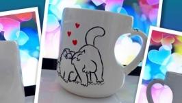 Чашка, ручная роспись