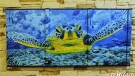 Черепаха 3D картина