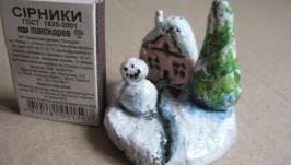 Домик со снеговиком