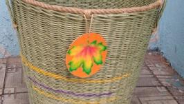 Плетёная интерьерная корзина