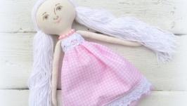 Игровая текстильная кукла розовая мечта