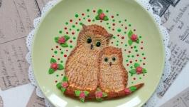 Тарелка с совушками