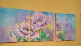 Триптих ′цветы′