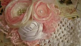 Пов′язка для дівчинки у стилі шеббі шик