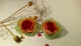 Заколки -невидимки с цветами