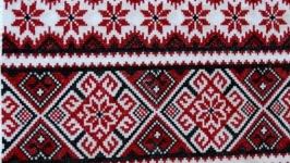 Вышитый рушник ′Цветочный орнамент′