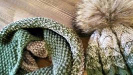 Модный комплект: шапка и снуд