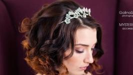 Свадебная корона с фурнитурой премиум класса