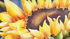 Картина батик Подсолнух 50х70