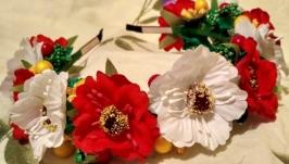Венок обруч ободок в украинском национальном стиле
