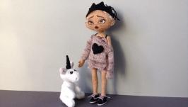 Текстильна лялька Манюня №1