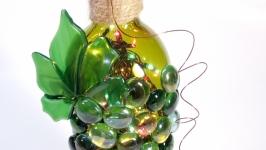 Декор винной бутылки ′Виноградная гроздь′