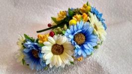 Украинский венок обруч ободок ,, Ромашки′