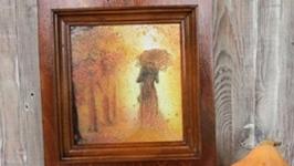 Вешалка-ключница `Осенний вальс`: часть І