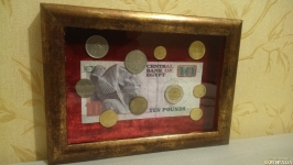 Картина из монет на тему ′ЕГИПЕТ′