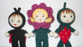 Вязанные крючком куколки
