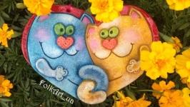 Панно ′Влюбленные котики′