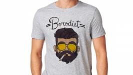 Футболка с росписью ′Бородач′