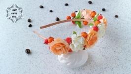 Персиковий обруч з ягодами, безкоштовна доставка