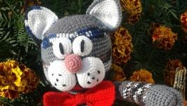 Іграшка вязана ′Гламурний кіт′