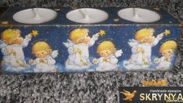 Новорічний свічник ′Янголятки′