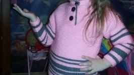 Детский вязаный свитер, ручная работа, образец.