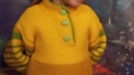 Детский вязаный свитер, ручная работа (образец)