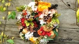 интерьерный венок ′Осень в моем саду′