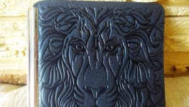 Зажим для купюр синий лев