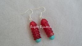 красно-голубые серьги RED BLUE YOUTH CASUAL CHIC