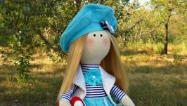 Интерьерная кукла ручной работы ′Морячка′!