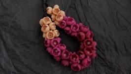 Колье цветы-бутоны под платье миди, рубашку, юбку, джинсы