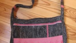 Сумка с черного джинса