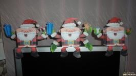 Дед мороз - занимательная поделка, объемная фигурка