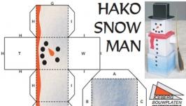 Снеговик - занимательная поделка, объемная фигурка