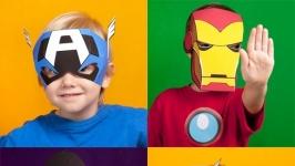 Маски для детей (супер герои)